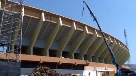 İzmir Atatürk Stadı'nde yenileme çalışmaları