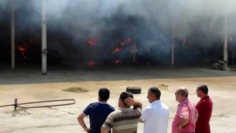 Aziz Yıldırım'ın kardeşi Ali Yıldırım'a ait çiftlik yandı