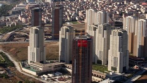 İstanbul'daki konutların havadan görünüşü