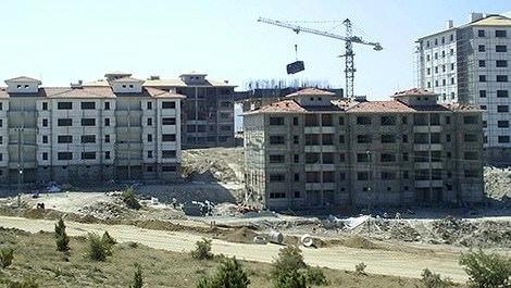 TOKİ Konya Beyşehir konutlarının inşaatı
