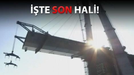 Üçüncü köprünün son hali görenleri şaşkına çeviriyor!