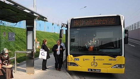 Sarı İETT otobüsü