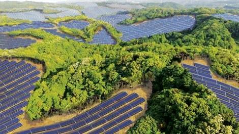 Japonya dev güneş panelleri