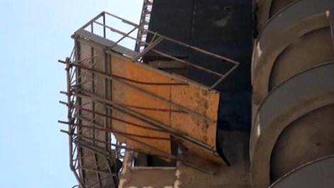Gaziantep'te çöken inşaat iskelesi