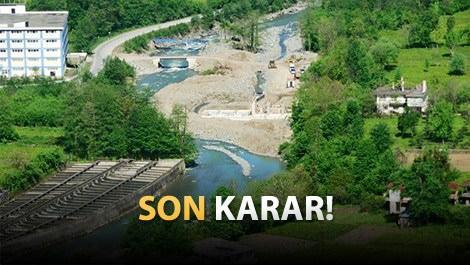 şehrin ortasında geçen baraj