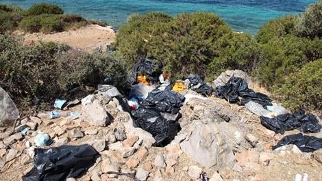 Mülteciler Bodrum koylarını çöplüğe çeviriyor!