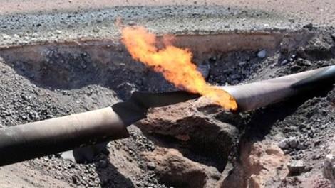 Kars'ta doğalgaz boru hattında patlama oldu!