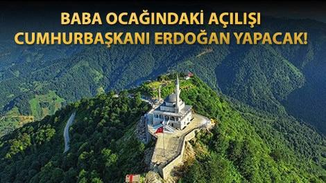Rize'nin zirvesindeki Kıble Dağı Camisi