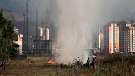 Kayseri'de çıkan ot yangını hızla yayılırken