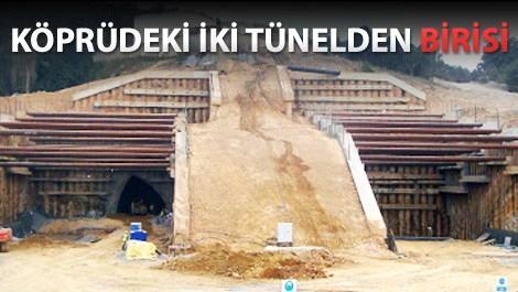 3. köprüdeki çamlık tünelinin inşaat aşaması