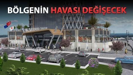 ballıoğlu business center projesinin giriş kapısı