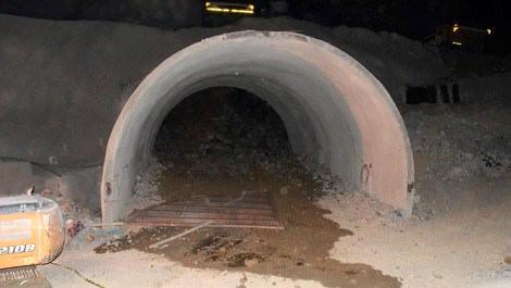 Zonguldak'ta tünel inşaatı