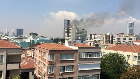 Şişli'de yer alan hukuk bürosunda çıkan yangın