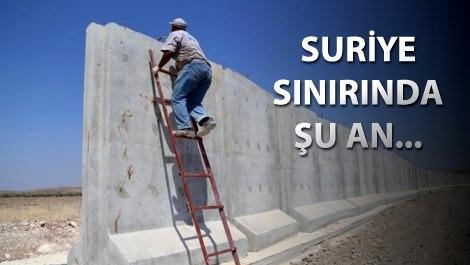 Suriye ile aramıza duvar çekiyoruz!