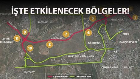 Ankara Bulvarı trafiğinin uydu görüntüsü