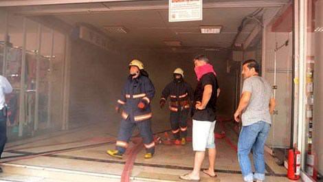 sinanpaşa iş merkezi, yangın