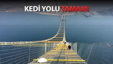 İzmit Körfez Köprüsü'nde sıra ana kablolarda!