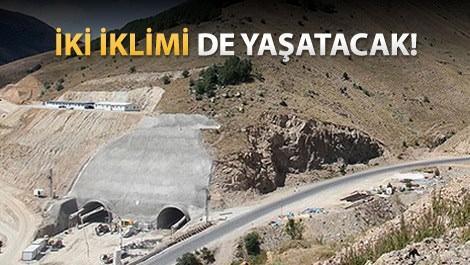 Eğribel Tüneli'nin girişi