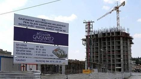 Gaziantep Güzelyurt Sosyal Konutların inşaatı