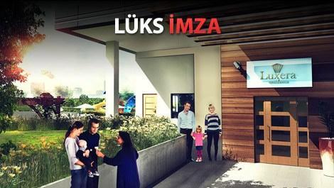 bağcılardaki luxera projesinin giriş kapısı