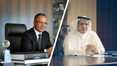 Aşçıoğlu Yönetim Kurulu Başkanı Yaşar Aşçıoğlu ve ubai devi Deyaar Grubu'nun CEO'su Saeed Mohammed Al Qatami