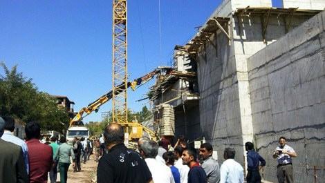 Ağrı AVM inşaatında göçük