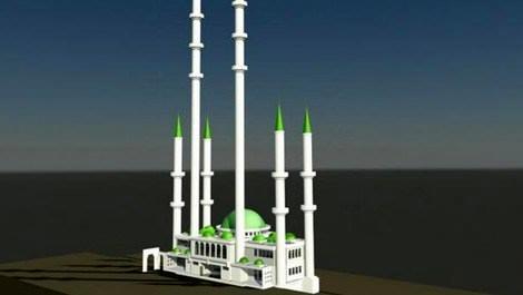 Avrupa'nın en uzun minareli camisi