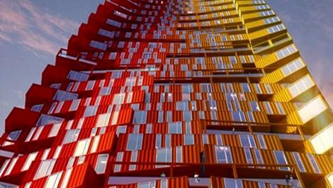 hindistanda inşa edilen konteyner gökdelen