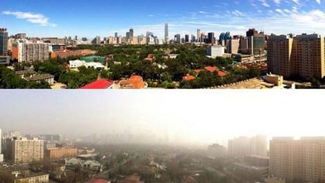 Çinde hava kirliliği