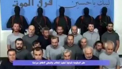 Bağdat'ta kaçırılan Türk işçilerinden ilk görüntü!