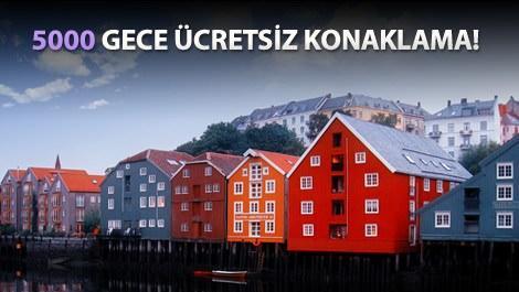Norveç'teki renkli binalar
