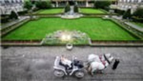Ebru Şancı ve Alpaslan Öztürk, şatoda evlendi