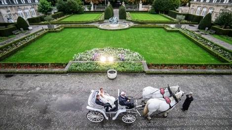 Kasteel Den Brandt şatosunda düğün