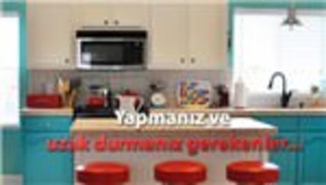 Açık mutfaklı 1+1 ev dekorasyonu!