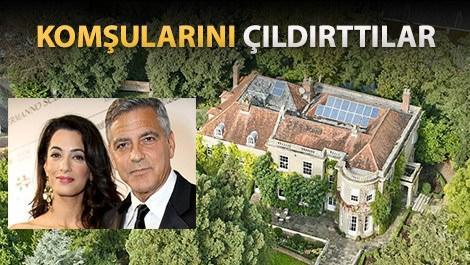 George,Amal Clooney çiftinin İngiltere'deki malikanelerindeki tadilat