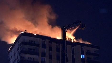 Ankara'da iş hanında çıkan yangın
