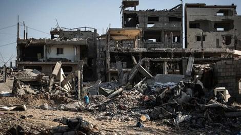 Gazze'de saldırı sonucu meydana gelen yıkımlar