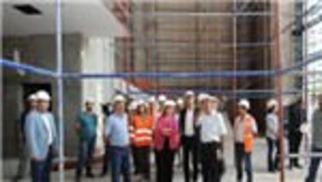 Diyarbakır'da inşa edilen Kongre Merkezi'nde çalışmalar sürüyor