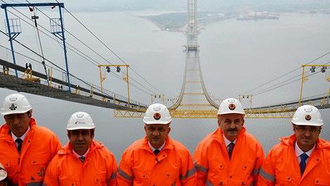 İki bakan İzmit Körfez Geçişi Köprüsü'nü teftiş etti!