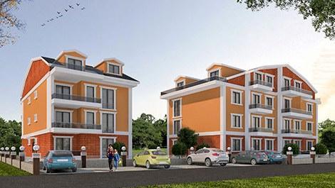 Adobe İnşaat'ın turuncu renkli Tınaztepe projesindeki 2 blok
