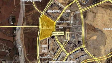 Adım İstanbul projesinin parselinin uydu görüntüsü