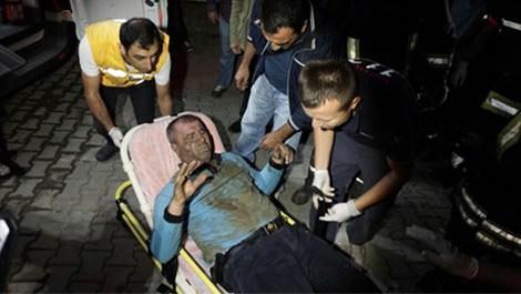 İtfaiye çalışanı kaza