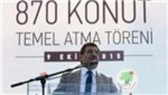 Ankara'da 870 konutun temeli bugün atıldı
