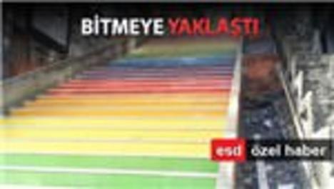 Karaköy'ün renkli merdivenlerinde sona gelindi!