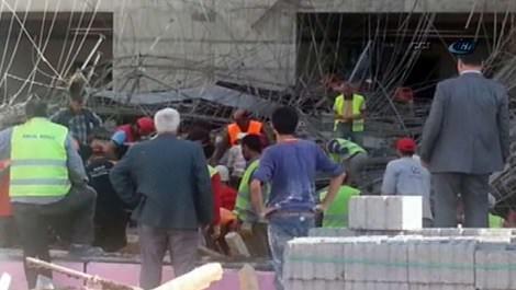 Balıkesir Tıp Fakültesi Hastanesi'nin inşaatında göçük!