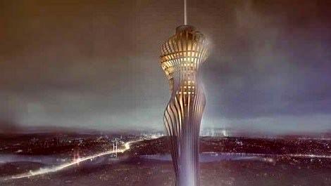ışıklandırılmış kule