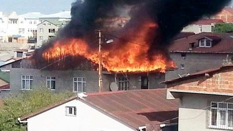 Çatı yangını