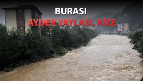 Ayder Yaylası'nın yolu ulaşıma kapandı