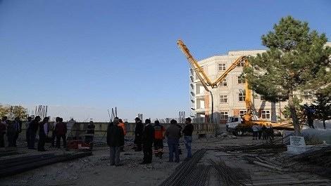 Nevşehir'de okul inşaatında göçük