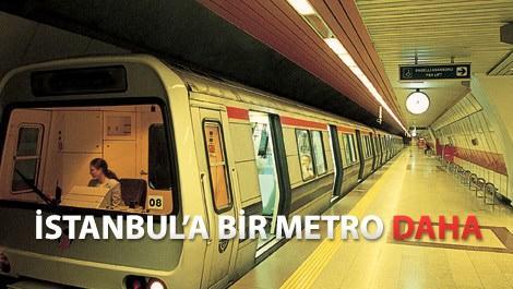 istanbulda çalışan metronun görünümü